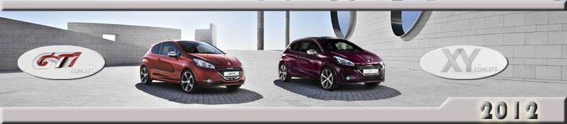 Peugeot 208 GTi et XY Concept