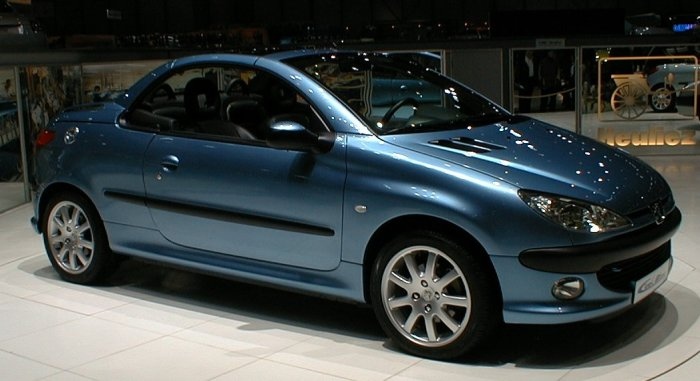 peugeot 206 cc ciel bleu heuliez les concept cars peugeot. Black Bedroom Furniture Sets. Home Design Ideas